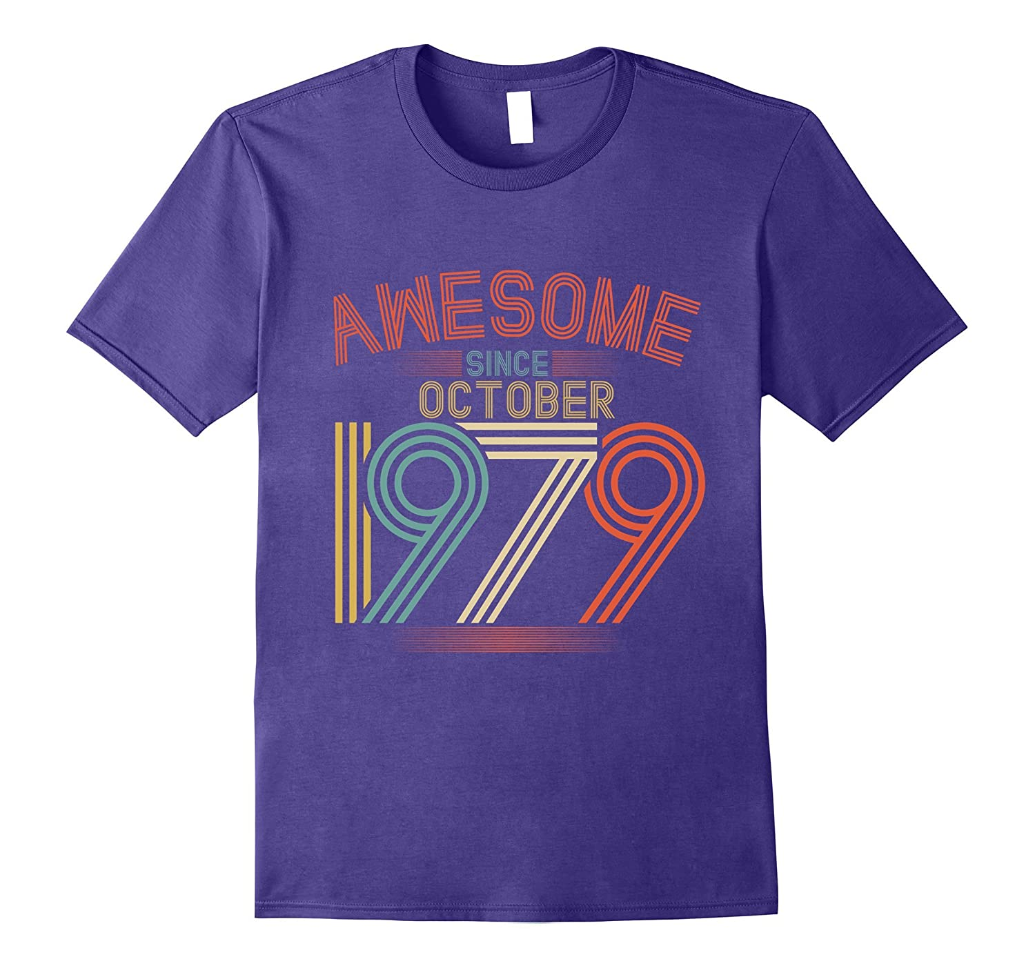 Awesome Since October 1979 Funny T-Shirt 38th Birthday Tee-ANZ