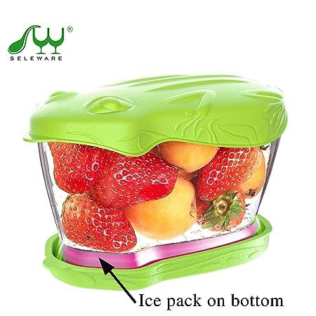 SELEWARE Recipiente para Guardar ensaladas, Fruta Fresca y ...