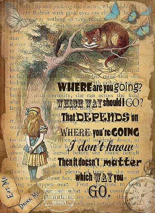 Metallschild Mit Zitat The Rusty Apples Alice In Wonderland