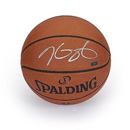 promo code 7e358 e01cb Kevin Durant Autographed in Silver Authentic Spalding ...