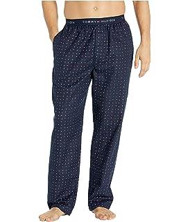 Tommy Hilfiger Men Sleepwear Flannel Cotton Sleep Set Black