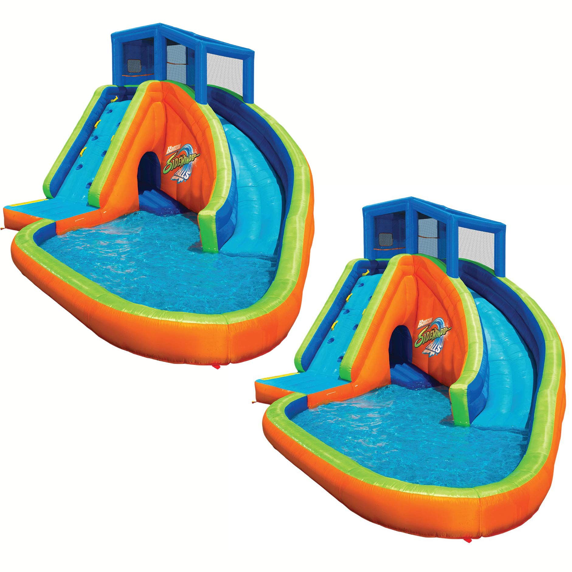 BANZAI Sidewinder Falls Inflatable Water Park Kiddie Pool with Slides & Cannons (2 Pack) by BANZAI (Image #1)