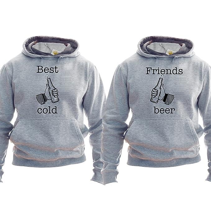 Best Friends Hoodies Funny Beer Sudadera Best Friends with Beer: Amazon.es: Ropa y accesorios