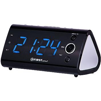 Radio reloj despertador con indicador de temperatura/1,2 pulgadas pantalla en 3 niveles