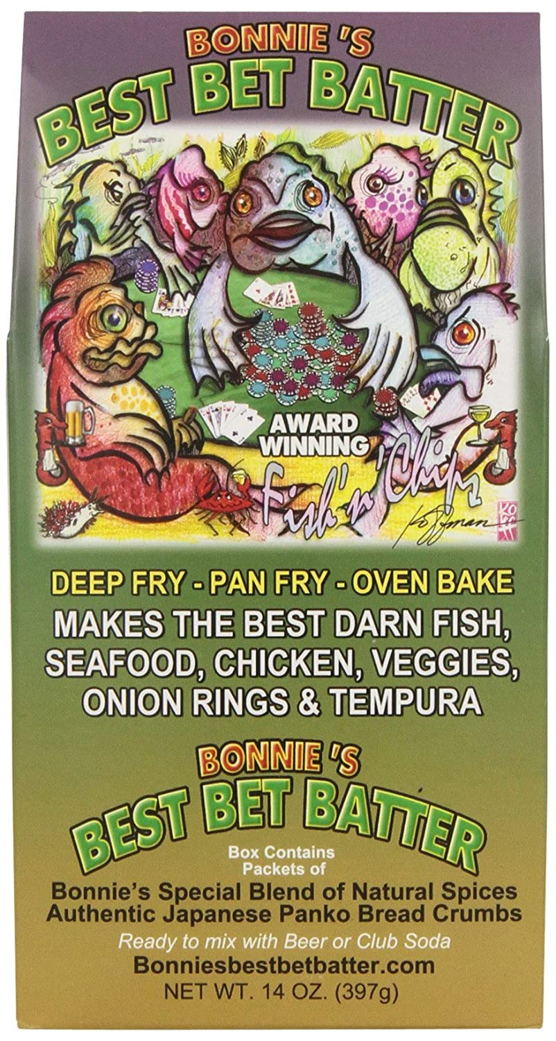Amazon.com : Bonnies Best Bet Fish n Chips Batter, 14 Oz (397 g) : Flour And Meals : Grocery & Gourmet Food