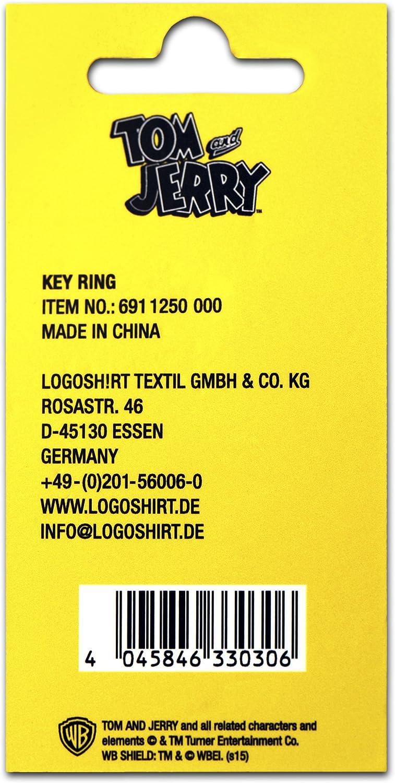 Key-Ring Tom y Jerry Logoshirt Dibujo Animado Dise/ño Original con Licencia Coloreado rat/ón Jerry Llavero