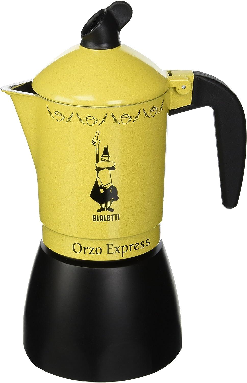 Bialetti Moka Orzo Express Cafetera Italiana Espresso, 4 Tazas, Aluminio, Negro/Amarillo: Amazon.es: Hogar