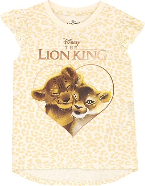 Disney Lion King T-ShirtGirls Lion King Short Sleeve TopKids Disney Tee