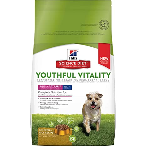 Hills Science Diet Senior Dog Food, Adult 7+ Small & Toy Breed Youthful Vitality