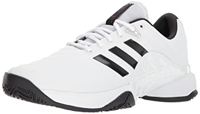 best loved bcadf 1ab74 adidas Performance Mens Barricade 2018 Tennis Shoe, WhiteBlackMatte  Silver, 4.5