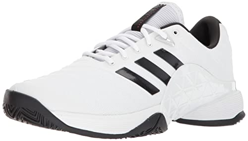 timeless design f0b2c 795be adidas Mens Barricade 2018 Tennis Shoe, WhiteBlackMatte Silver, ...