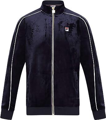 Fila Vintage Lineker Velour Track Jacket | Blue