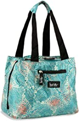Nicole Miller Insulated Lunch Bag - 11 Womens Designer Lunch Tote Cooler (Copacabana Blue)