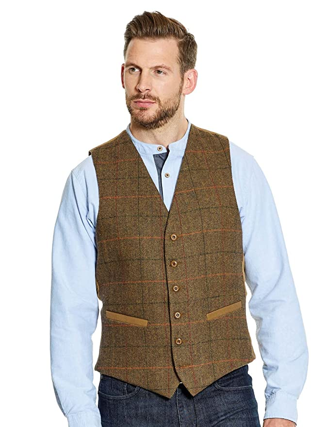 1950s Men's Clothing Pegasus Mens Tweed Waistcoat £44.00 AT vintagedancer.com
