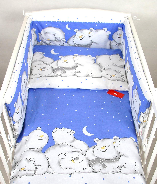BABYLUX Kinderbettwäsche 2 Tlg. 90 x 120cm Bettwäsche Bettset Babybettwäsche (84. Eisbär Grau)