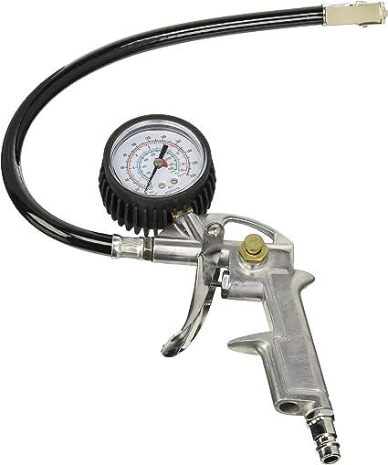 All Ride - Pistola de Aire con manómetro para Bicicleta, Coche y ...