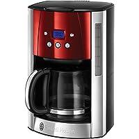 Russell Hobbs Luna kaffebryggare, digital programmerbar timer, upp till 12 koppar, 1.5l glaskanna, 1000W, varmhållning…