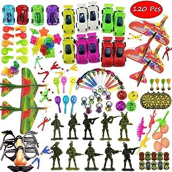 Clerfy Acc 120 Juguetes de Fiesta a Granel - Ideal Rellenar Bolsas de Fiesta de cumpleaños Infantiles o para el Colegio , Piñatas y Muchos Otros usos ...