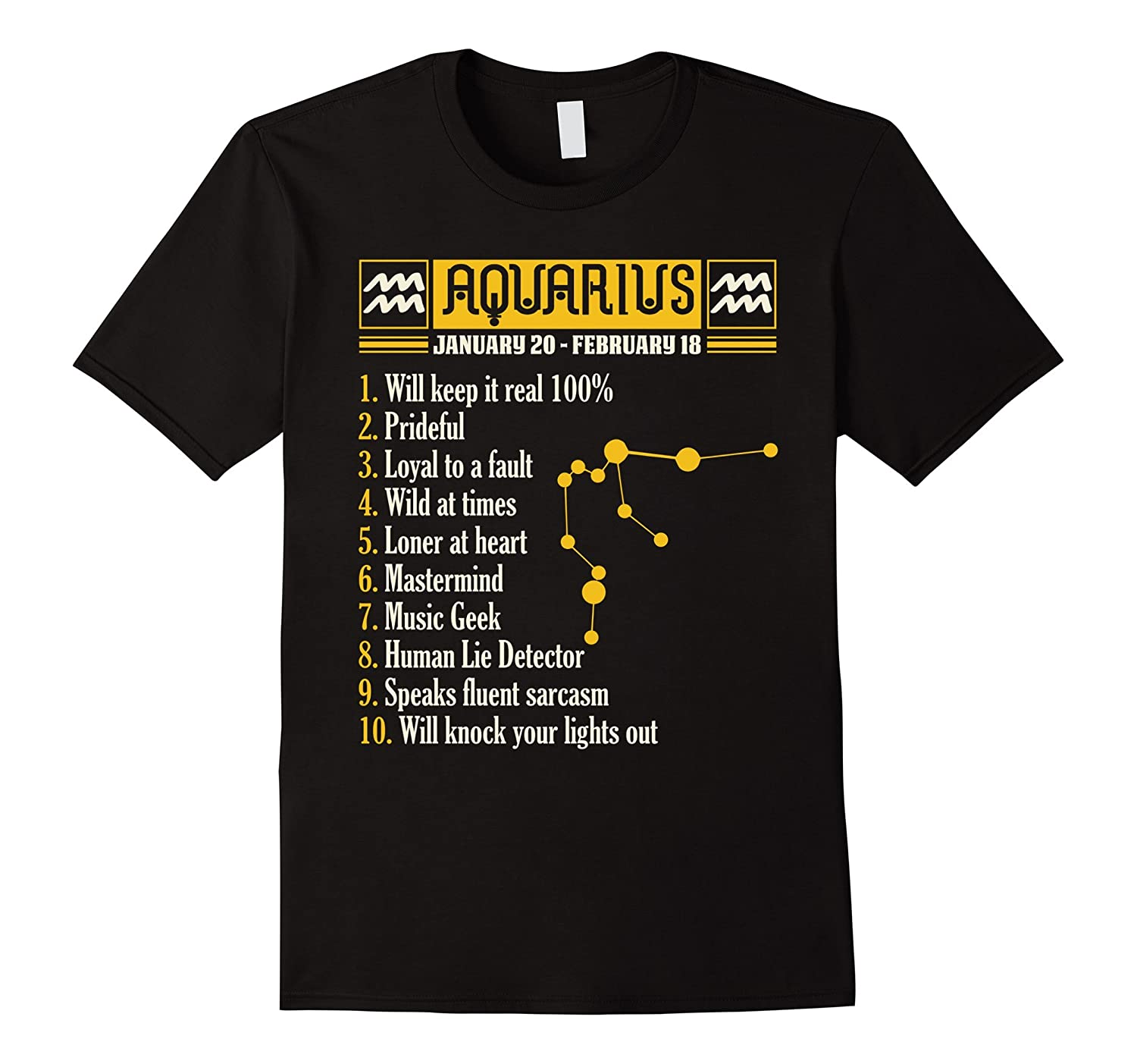 10 Things About Aquarius T-shirt Aquarius Facts-TH