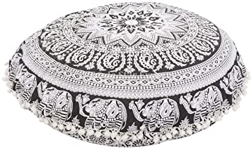 Gross Rund Mandala Boden Kissen Dekorativer Uberwurf Kopfkissen 81 3