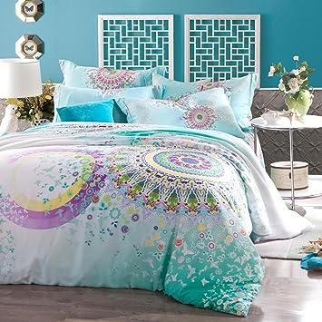 memorecool Home Textile Boho Parure de lit Bohème Parure de lit