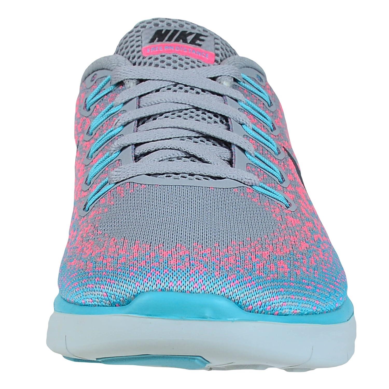 newest b5a66 031c1 Amazon.com   Nike Womens Free Rn Distance Wolf Grey Dark Grey Pink Blast  Running Shoe 5 US   Road Running