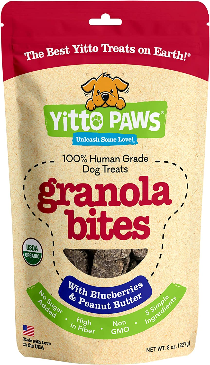 Yitto Paws dog granola bites