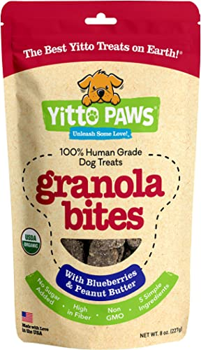 Yitto Paws Dog Treats – Organic, Human Grade Dog Snacks Made with Real Fruit and Peanut Butter