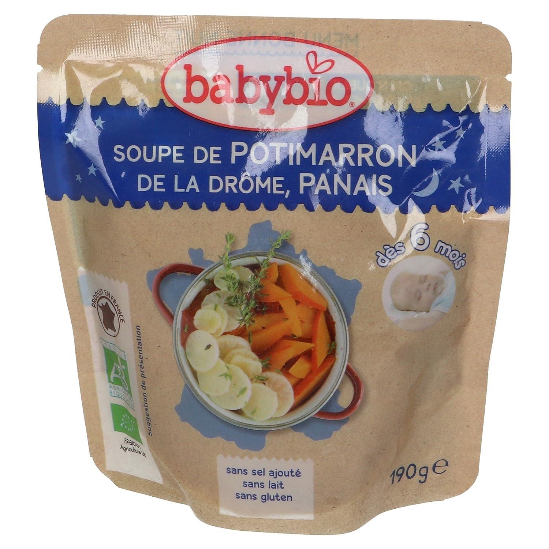 Babybio Soupe de Potimarron de la Drôme/Panais 6+ Mois 190 g