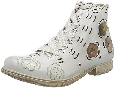 Rovers Damen Stiefeletten Weiß, 37 EU: : Schuhe