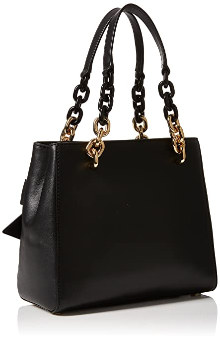 Michael Kors Womens Cynthia Satchel Black (Black)  Handbags  Amazon.com 3044da096dec7