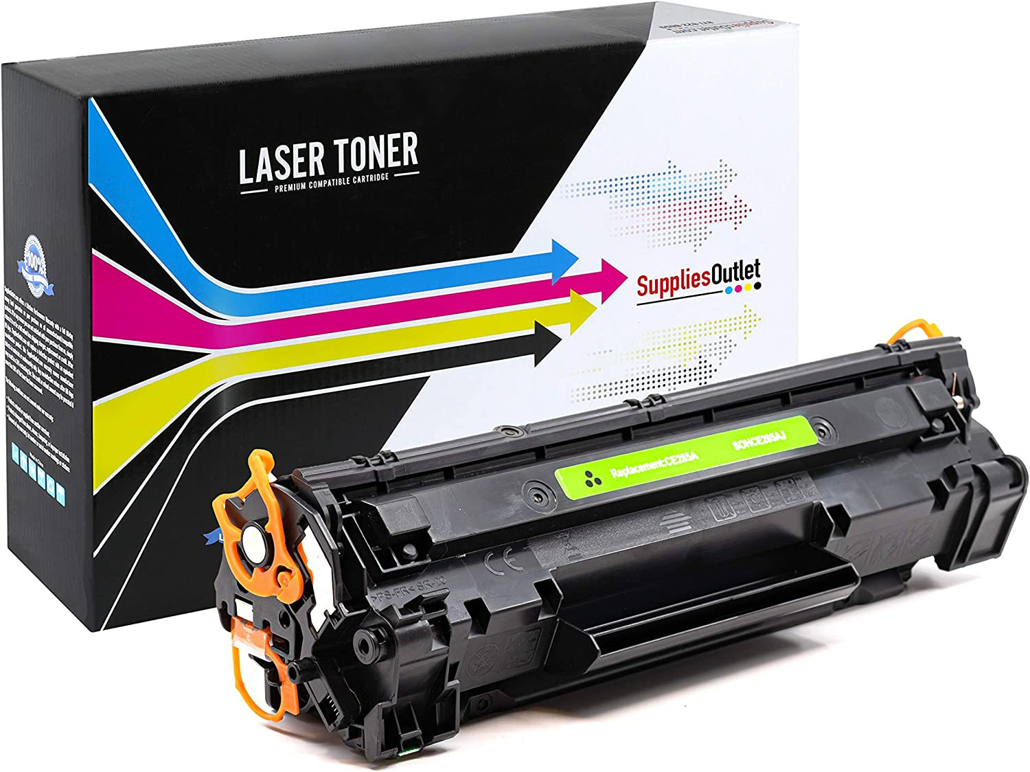 SuppliesOutlet Compatible Toner Cartridge Replacement for HP 35A Black,1 Pack CB435A