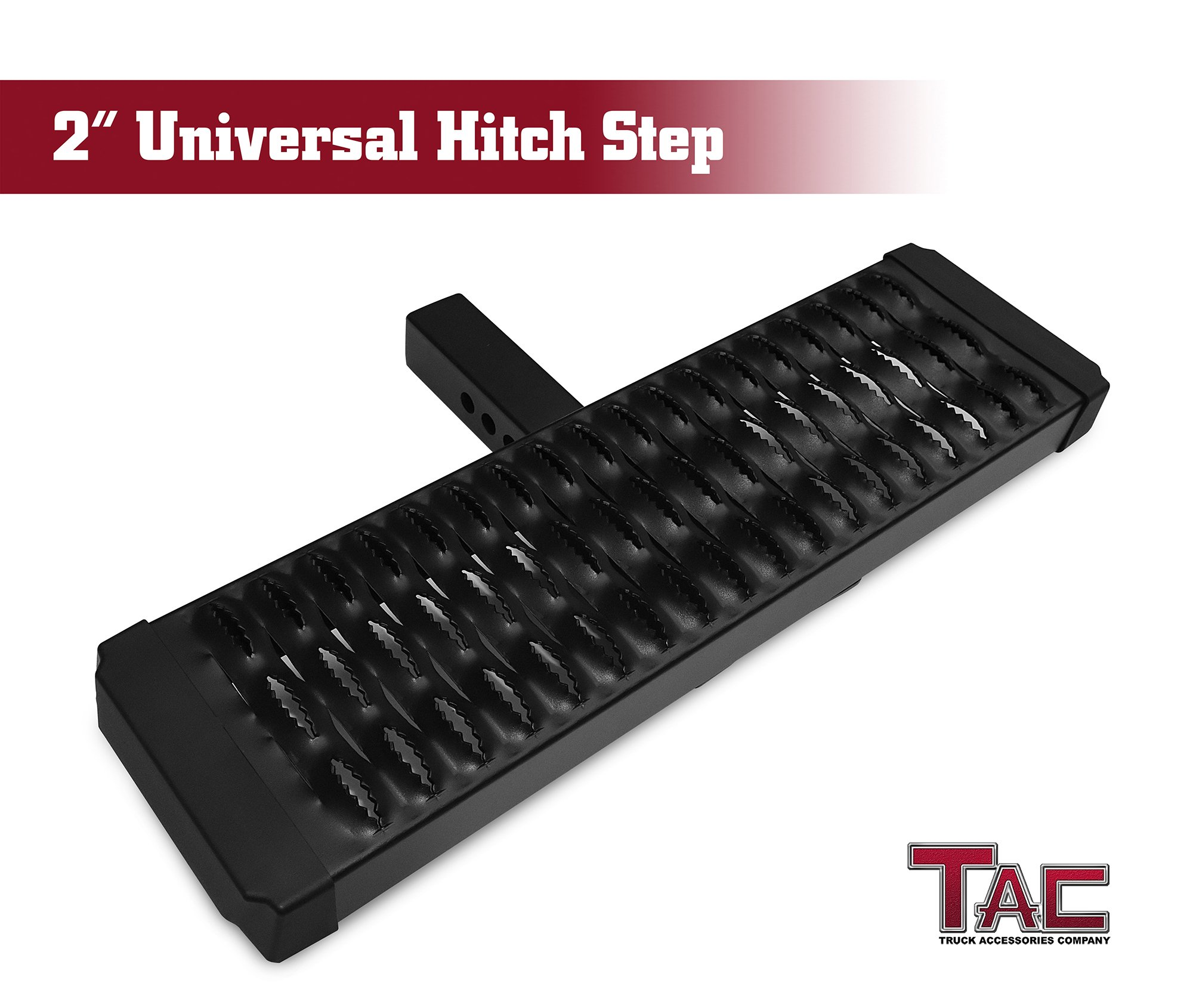 TAC STHT-U01 Aluminum Hitch Step Universal Fit 2'' Rear Hitch Receivers with No Drop
