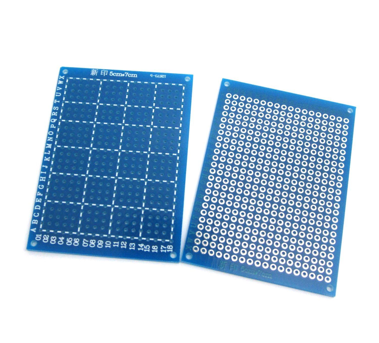 Wingoneer 5pcs Lot Diy Prototype Perftboard Pcb 7cm Paper Universal Experiment Matrix Circuit Board Electronics