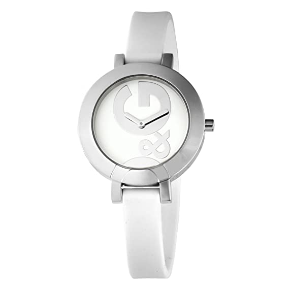 92761b8684bc Dolce   Gabbana D G - Reloj analógico de cuarzo para mujer con correa de  plástico