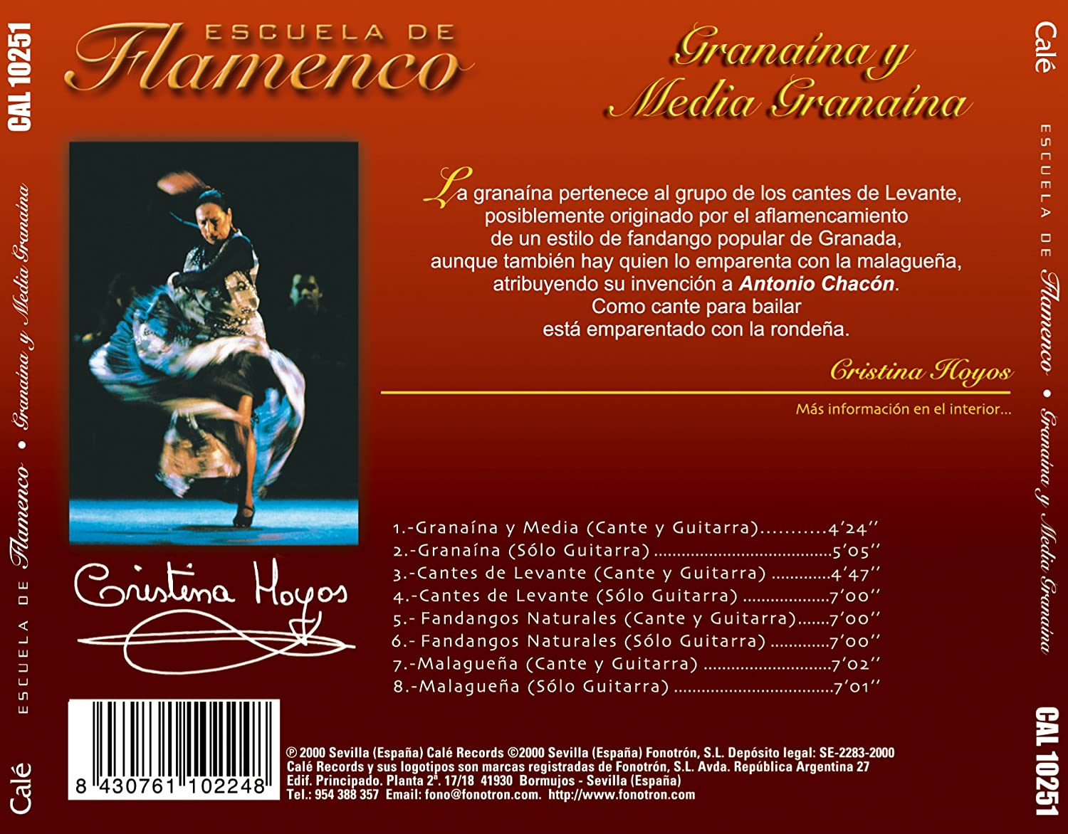 Escuela De Flamenco -Granaina: Various Artists: Amazon.es: Música