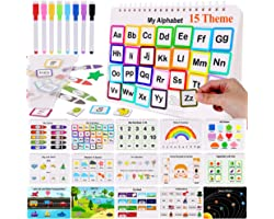 HAN-MM Preschool Montessori Toys with 8 Color Marker Toddler Toys for Kids Learning Toys Busy Board Busy Book Toddler Learnin