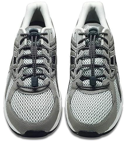 82f560ad440 Amazon.com: LOCK LACES Reflective (Elastic No Tie Shoelaces) (Storm ...