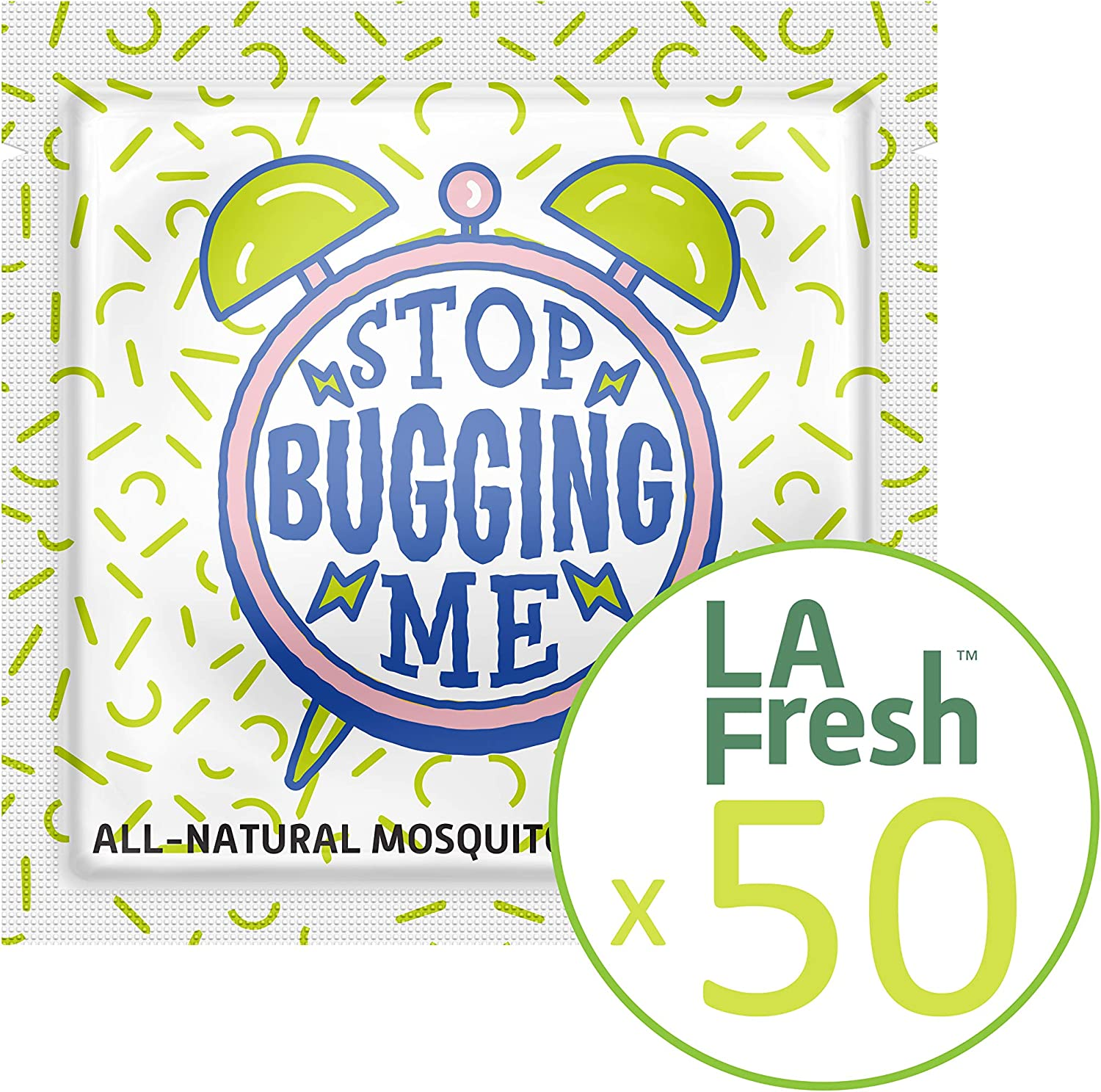 La Fresh Mosquito Repellent Wipes – Natural, Deet Free, Non Toxic, Long Lasting Repellent Protects Against Almost All Bugs Safe for Your Kids,Family (50 Packets Individually Wrapped, Travel Friendly)