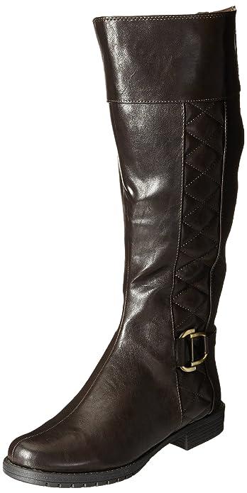 LifeStride Women's Marvelous WS Riding Boot, Dark Brown, ...