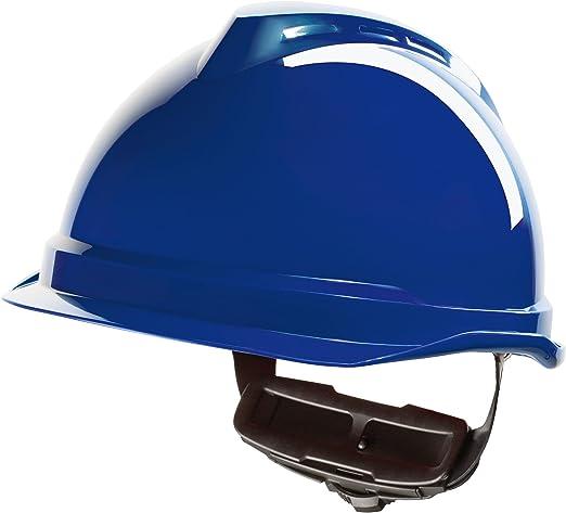 Casco de Protección MSA V-Gard 520 con Ajuste por Trinquete FasTrack - Casco de Trabajo Casco de Seguridad Casco de Construcción, Color: Azul: Amazon.es: Bricolaje y herramientas