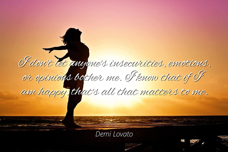 Amazon.com: Home Comforts Demi Lovato - Famous Quotes Laminated ...