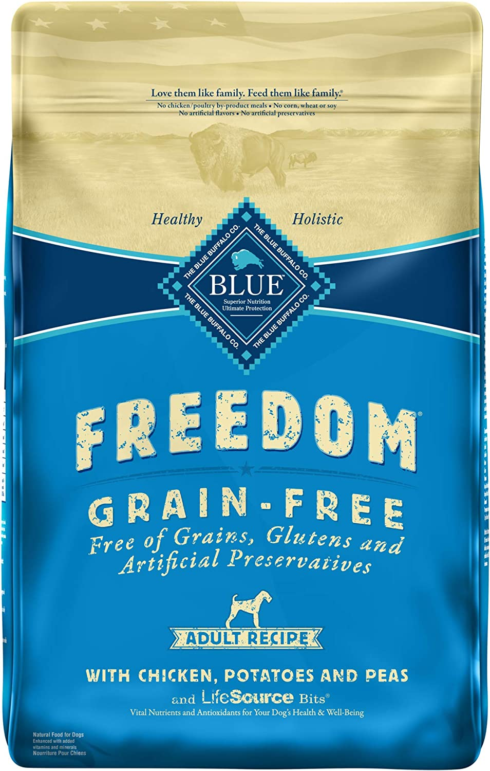 6. Blue Buffalo Freedom Adult Dry Dog Food