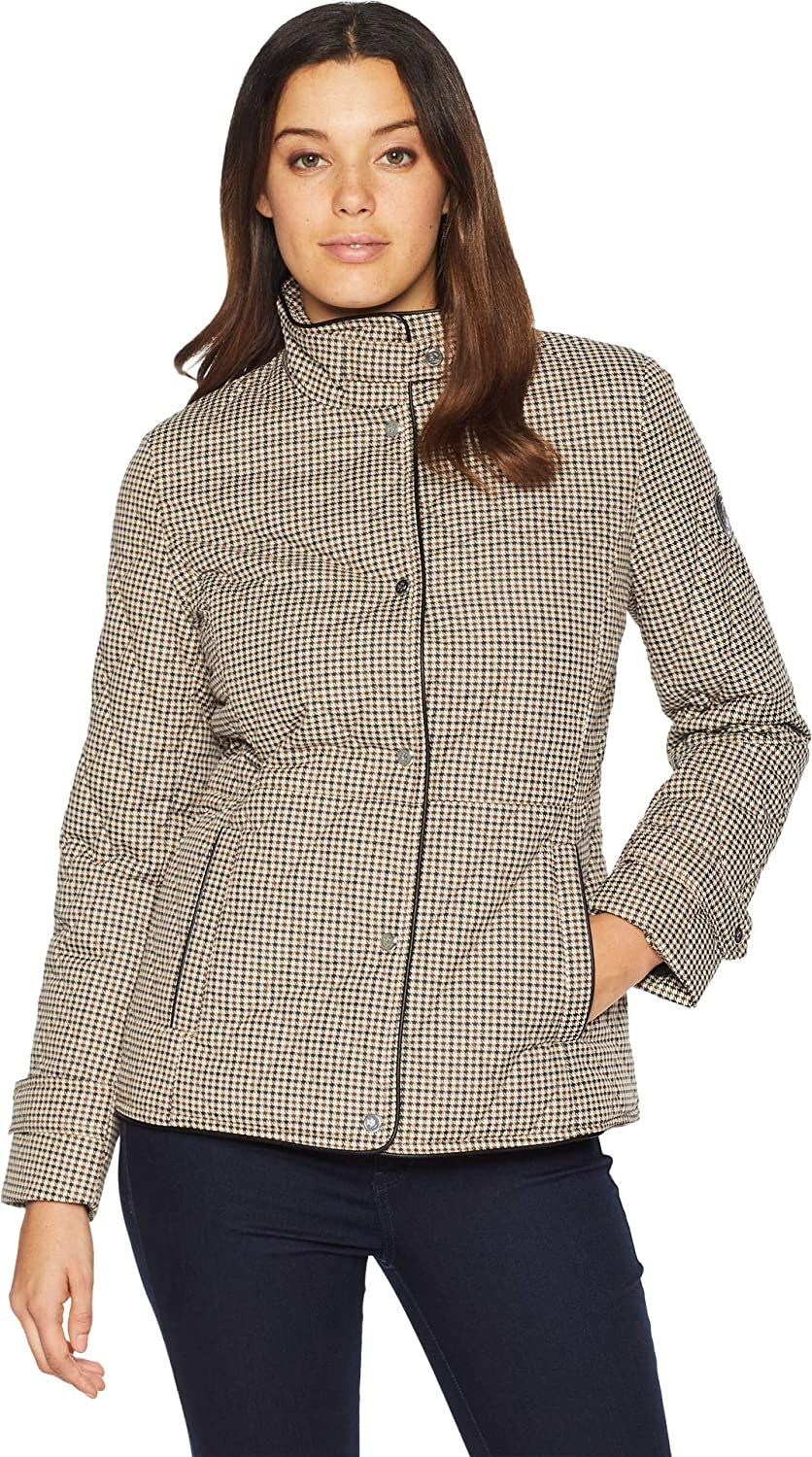 0967fea64 Lauren Ralph Lauren Womens Houndstooth Quilt at Amazon Women s Coats Shop