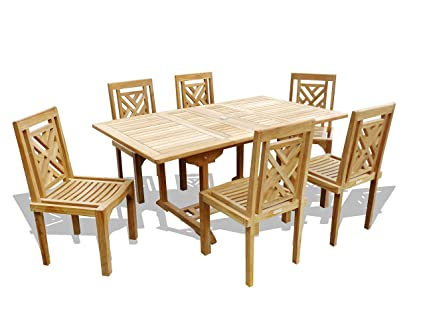 Amazon.com: Windsor - Mesa de comedor rectangular de alta ...