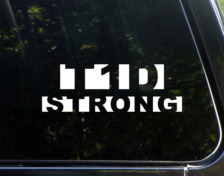 Amazon com type one diabetes strong 8 3 4 x 3 vinyl die cut decal bumper sticker for windows cars trucks laptops etc automotive