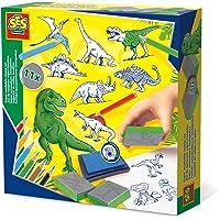SES Creative 14919 Stempelset dino, groen