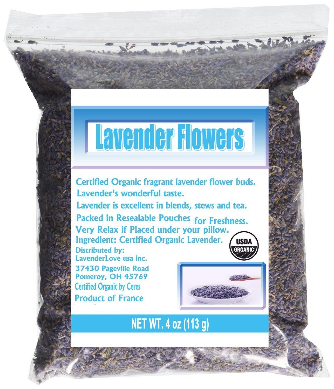 CCnatrue French Lavender Flowers USDA Organic Dried Culinary Lavender 4oz