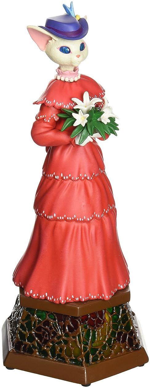 呪いくるみ津波収納オルゴール、ロマンチック カップルオルゴール かわいい 素敵な2人形 キスニング機械 回転 ラジオデザイン オルゴール結婚式 バレンタインギフト