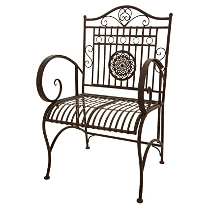 Amazon.com : Oriental Furniture Rustic Wrought Iron Patio ...
